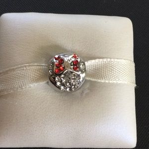 Minnie Mouse w/bow red CZ WORKS W/pandora
